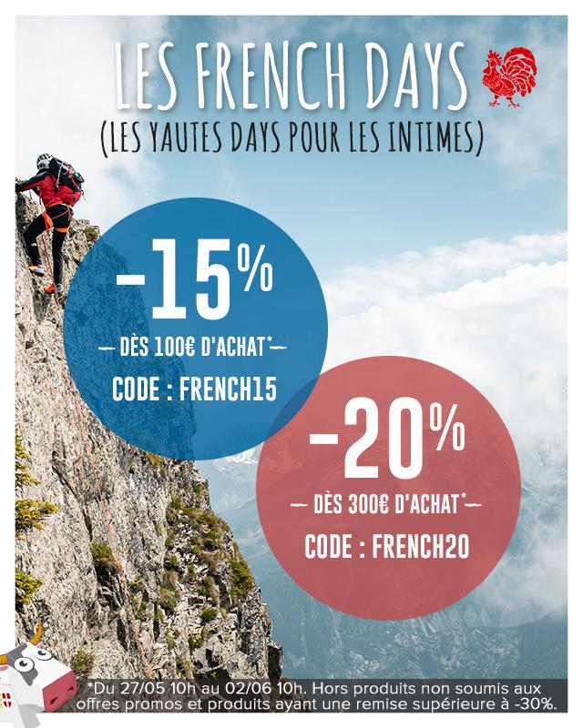 Pendant les French Days de Snowleader, c'est jusqu'à -20% de réduction supplémentaire qui vous attend sur tout le site !