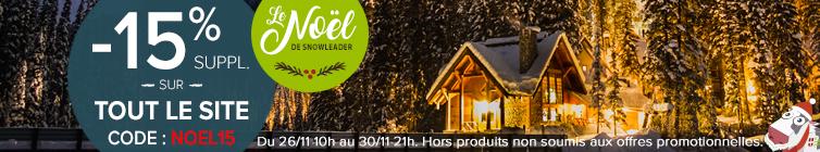 Profitez de -15% sur tous le site : Snowleader vous aide à trouver le cadeau idéal pour noël !
