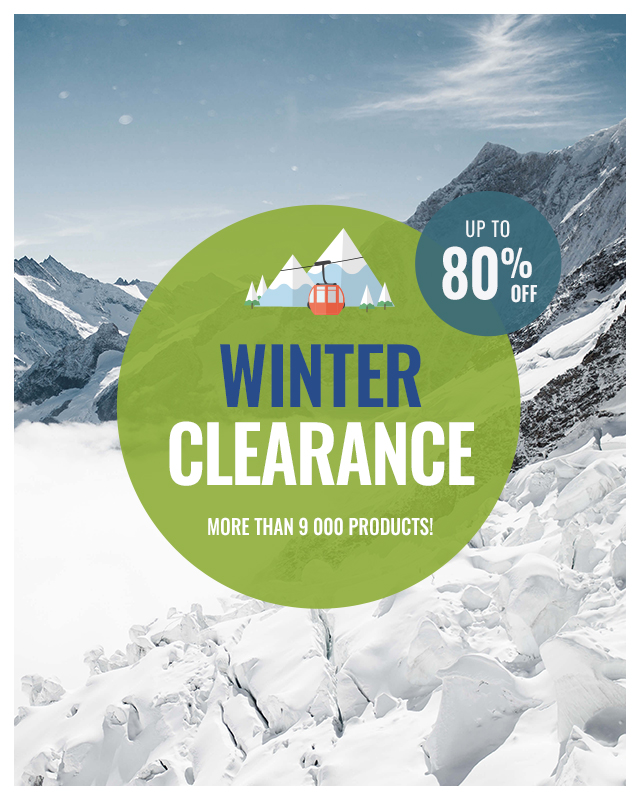 Snowleader's Winter Clearance: up to 80% off more than 9,000 products!