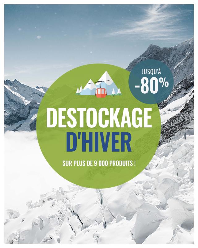 Déstockage d'hiver 2021 : jusqu'à -80% de réduction sur près de 9 000 produits !