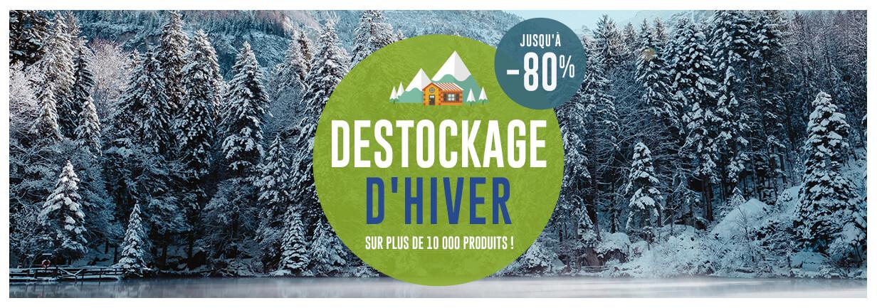 Déstockage d'hiver, plus de 10 000 produits jusqu'à -80%