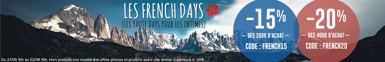 C'est les French Days chez Snowleader ! -15% dès 200€ d'achat et -20% dès 400€ d'achat