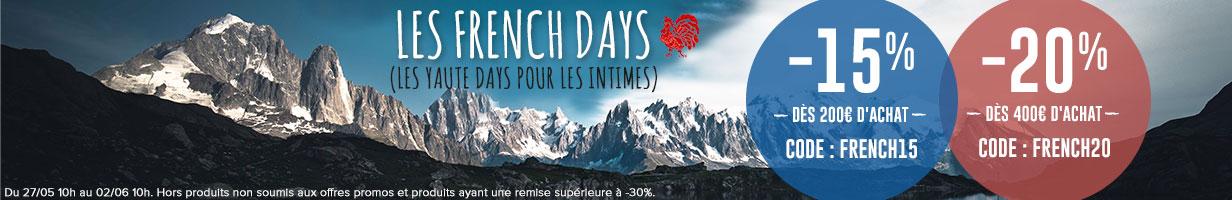 C'est les French Days chez Snowleader ! -15% dès 200€ d'achat et -20% dès 400€ d'achat