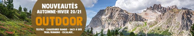 Découvrez les nouveautés Automne-Hiver 20/21 Outdoor : Textile, Chaussures de Randonnée, Sacs à dos…