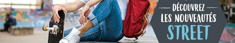 Découvrez les nouveautés Automne-Hiver 20/21 street : Textile, Chaussures Street, Sacs à dos…