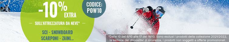 -10% extra sull'attrezzatura da neve