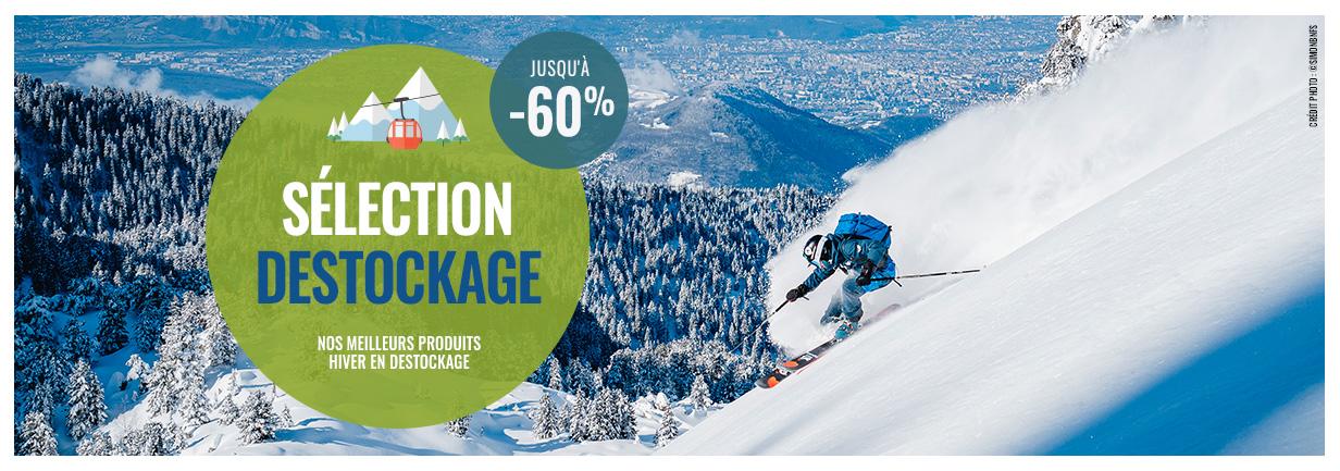 Sélection déstockage : jusqu'à -60% de réduction sur nos meilleurs produits hiver en déstockage !