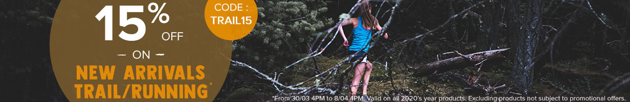 15% off on Trail/Running new arrivals!