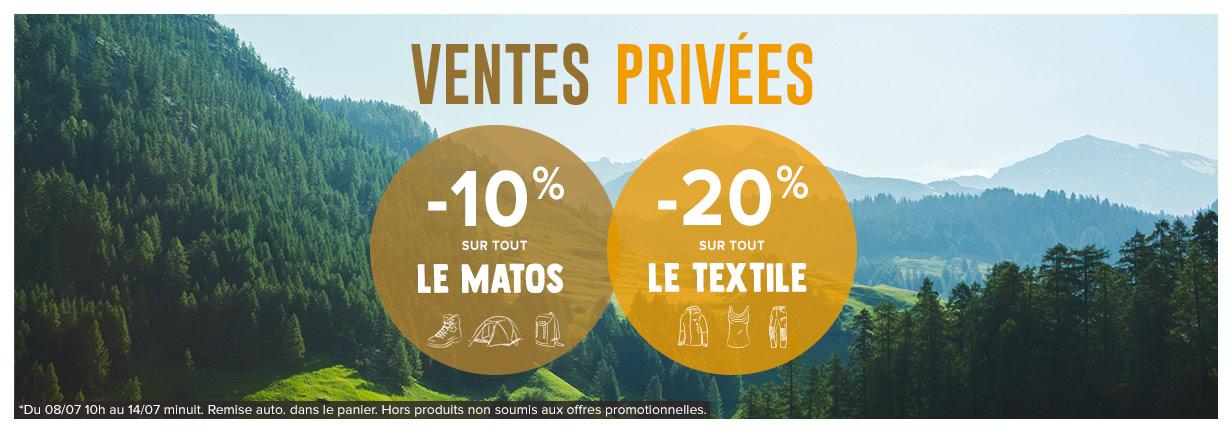 Ventes privées : profitez de -10% sur tout le matos et de -20% sur tout le textile