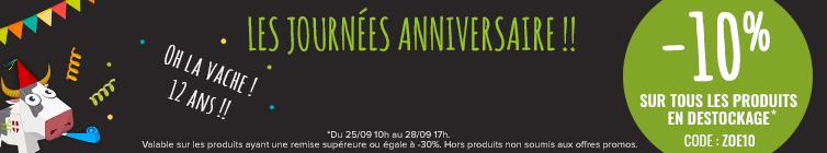 C'est les Zoé Days ! Profitez de -10% sur les produits en destockage.