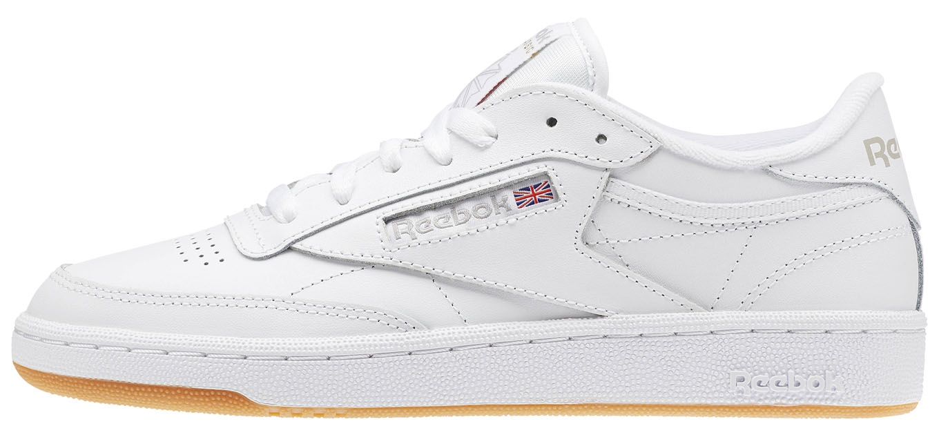 97b149a01c6c3 Club C 85 White/Light Grey/Gum Reebok : Baskets - Sneakers : Snowleader