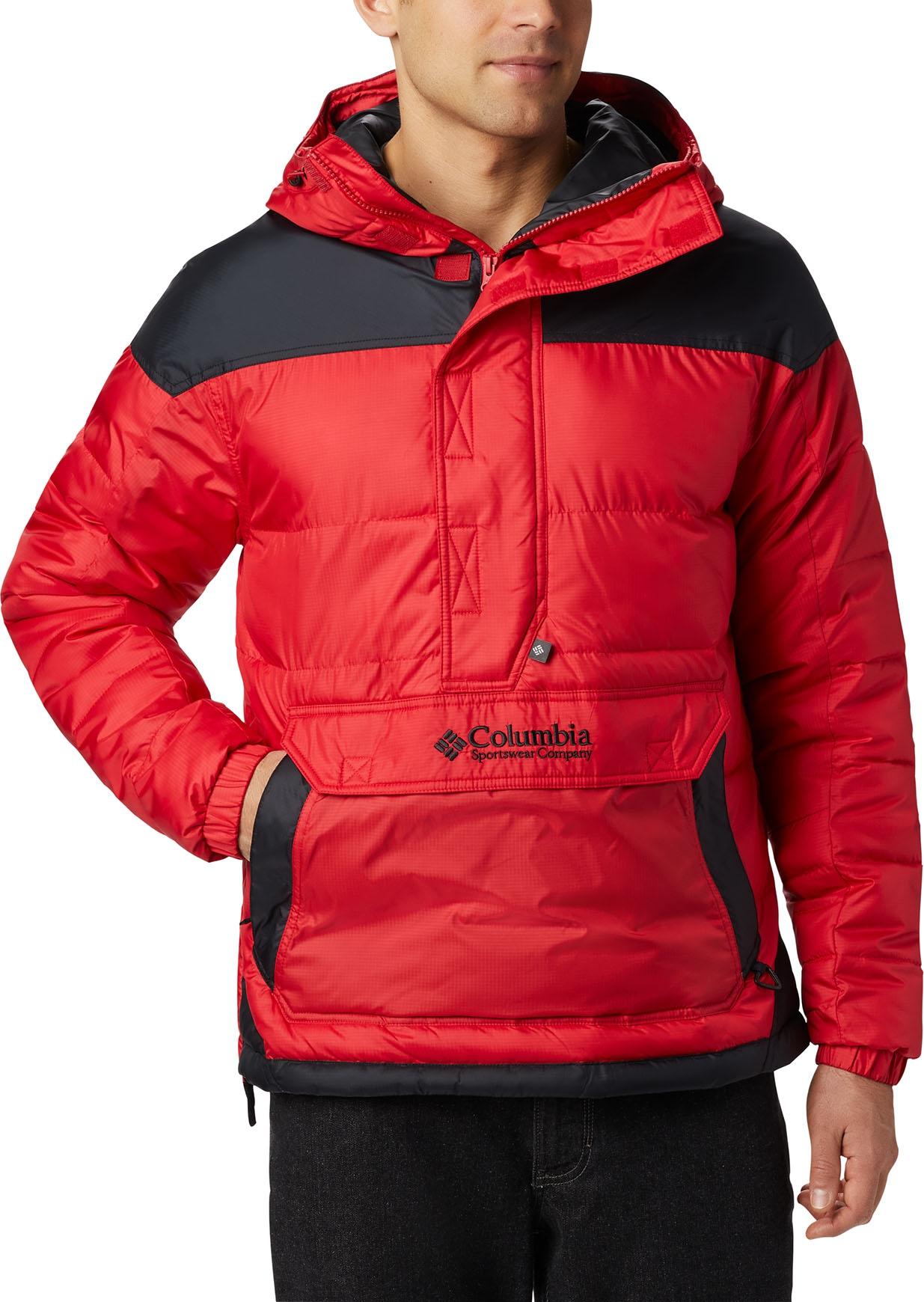 Columbia Lodge Pullover Jacket Mountain RedBlack