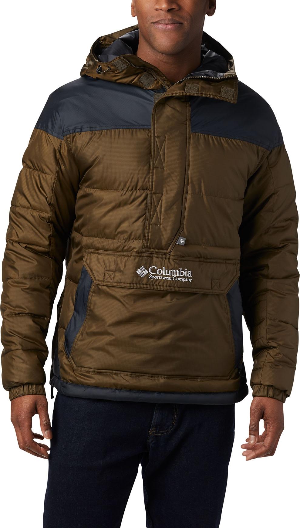 Columbia Lodge Pullover Jacket Olive GreenBlack