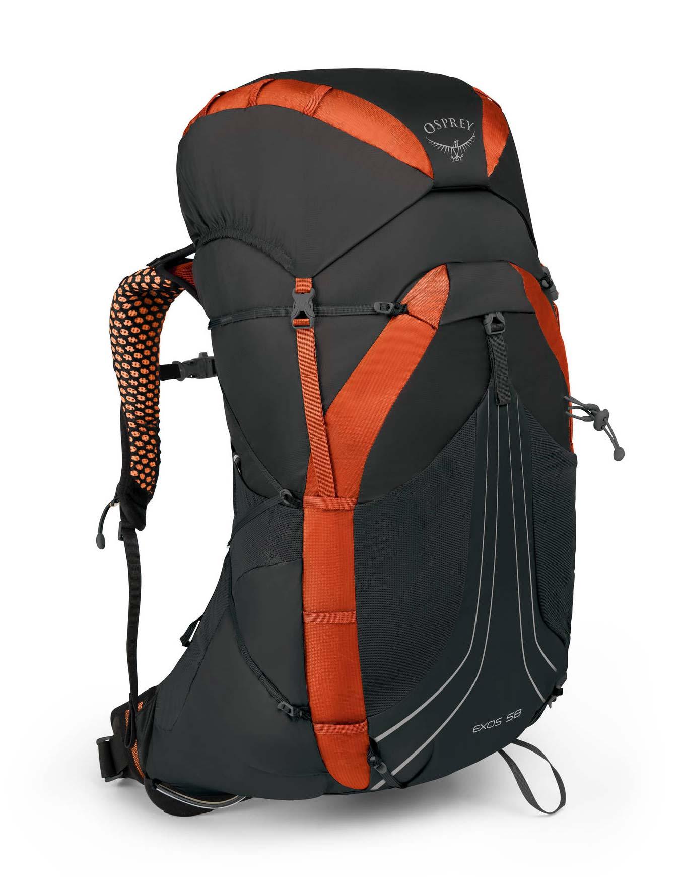 4b4e8eb895 Exos 58 Blaze Black Osprey : Sacs à dos trekking : Snowleader