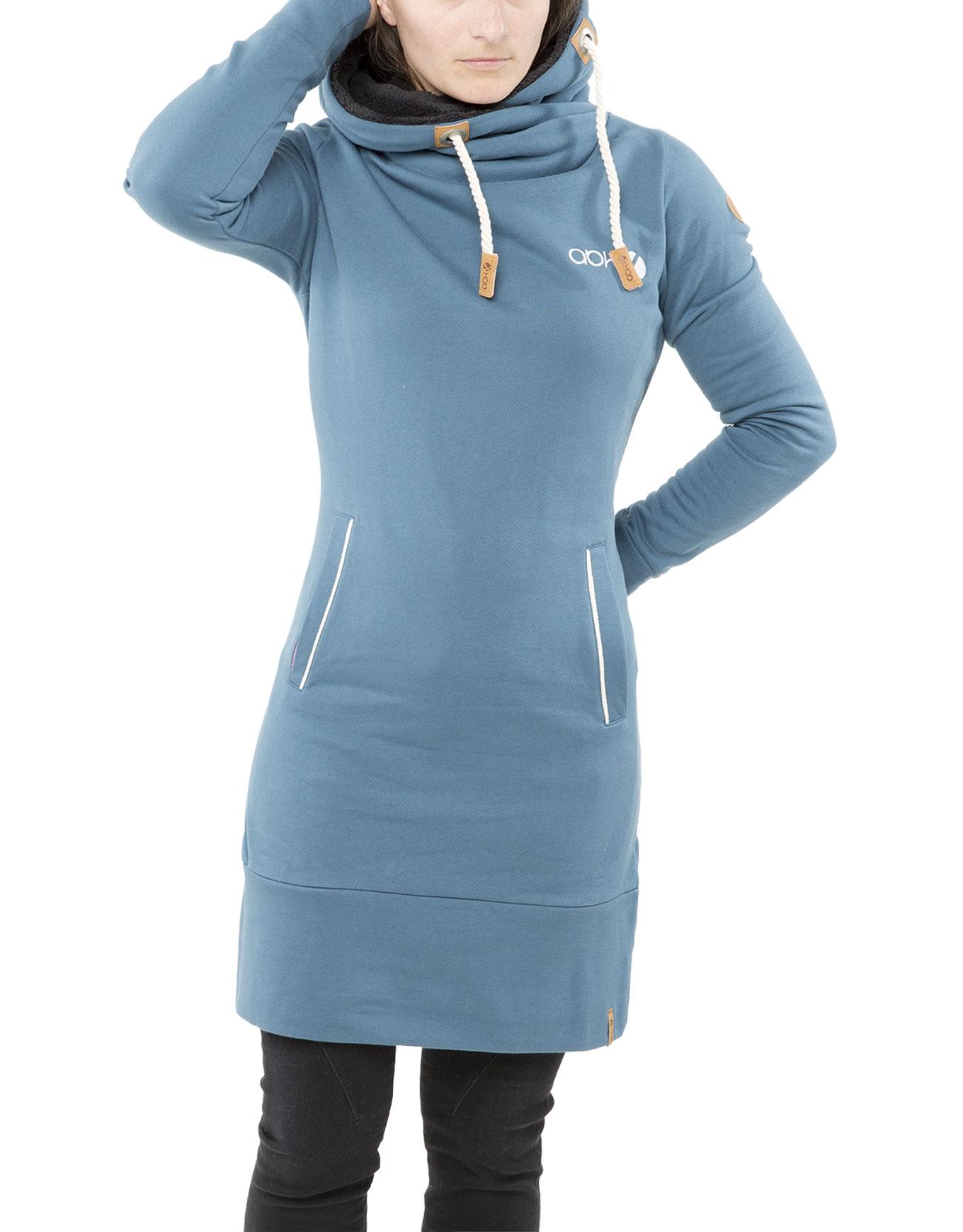 Gaun Dress Hoodie W Blue Grey
