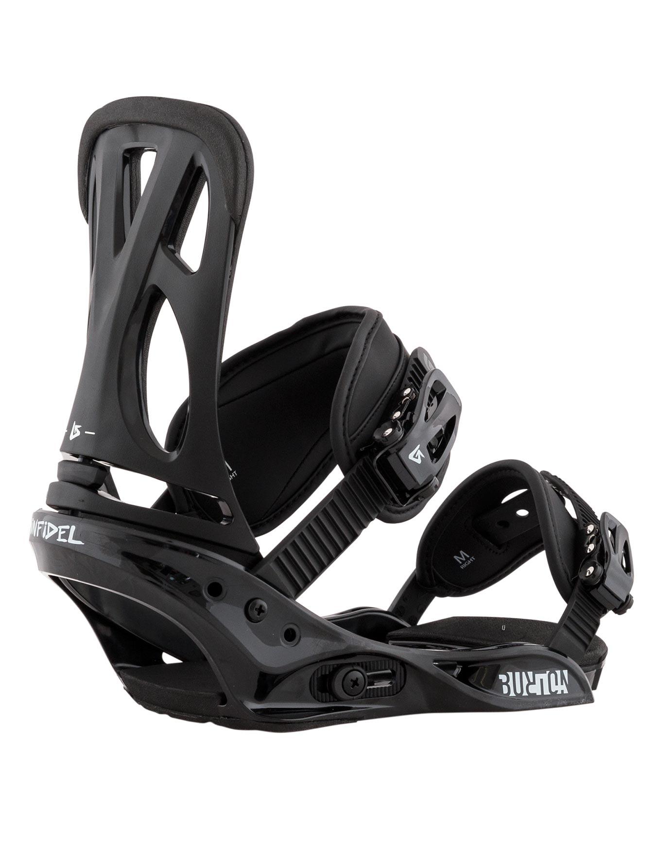 Fixations De Snowboard Custom Est Black Burton Homme Noir