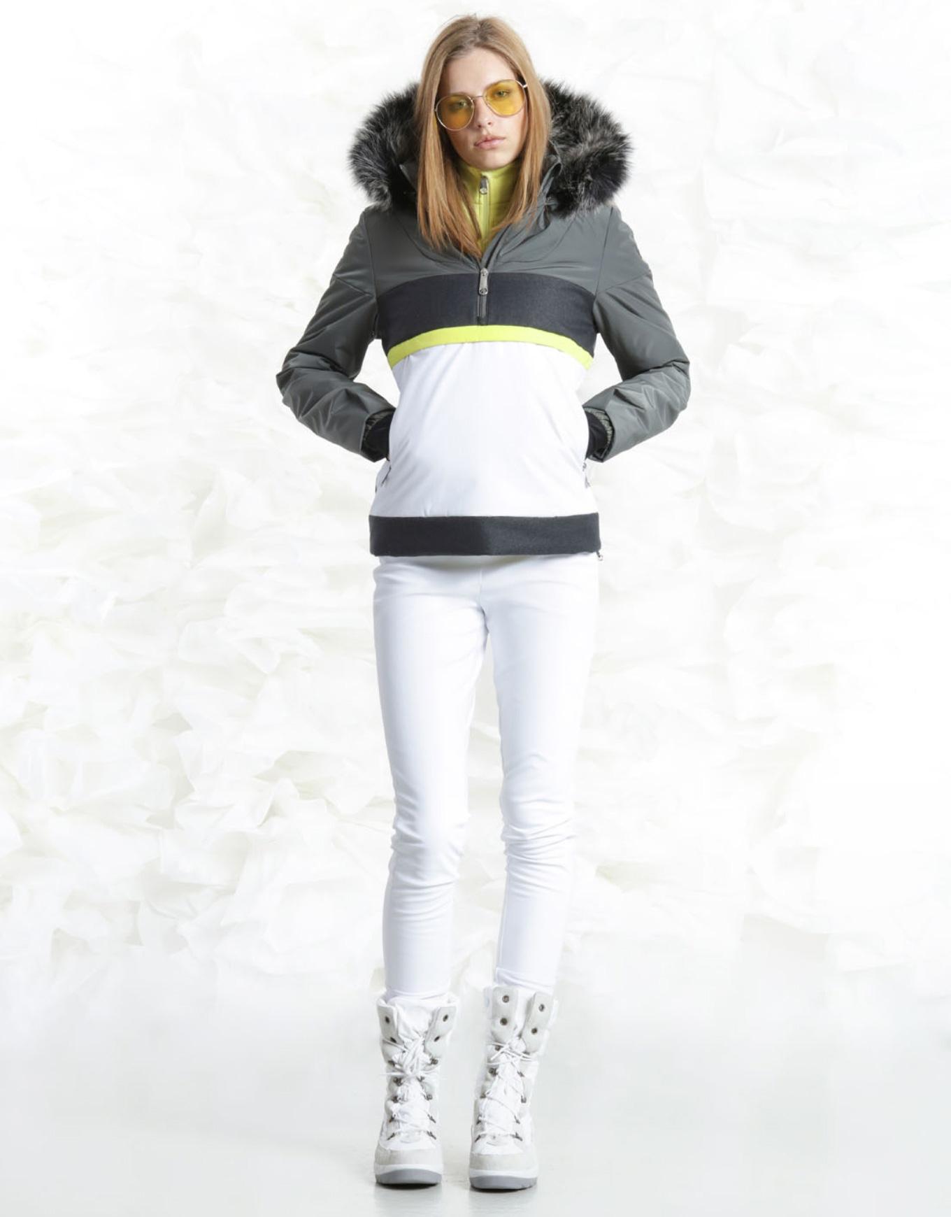 Ff Fun Blanc Ski Khaki W July Popover Jacket Poivre Greywhite xnUqFxw