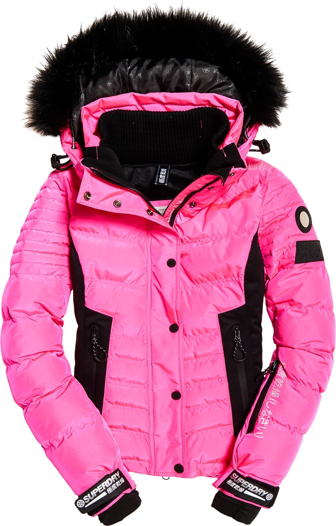 Luxe Snow Puffer W Luminous Pink Sheen