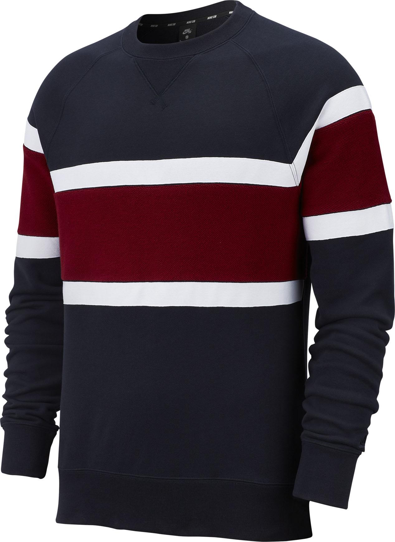 Nike SB Everett Crew Sweatshirt (dark obsidianteam reddark obsidian)