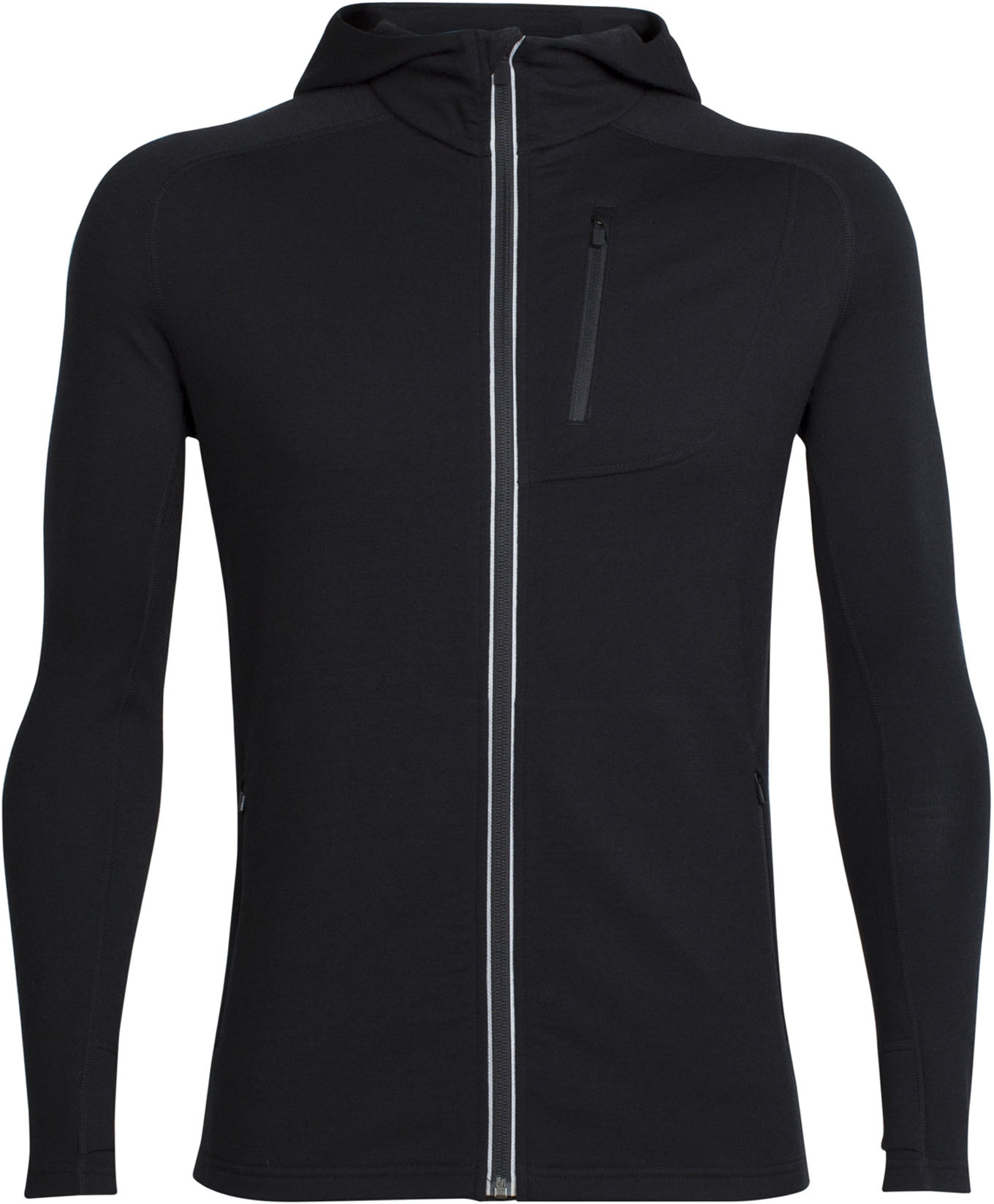 Mens Quantum LS Zip Hood Black