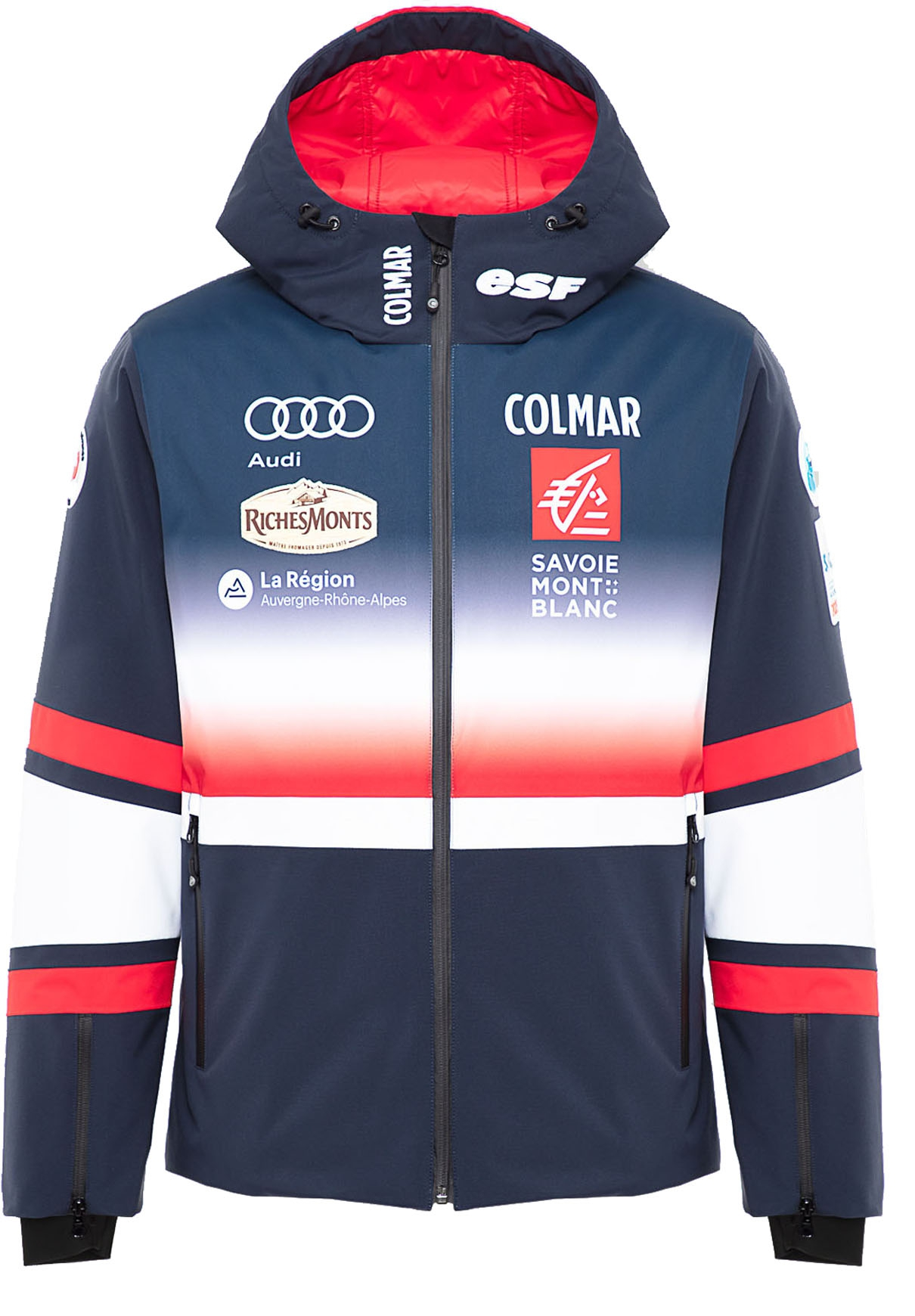Mens Ski Jacket Réplica Equipe de France Blue Black