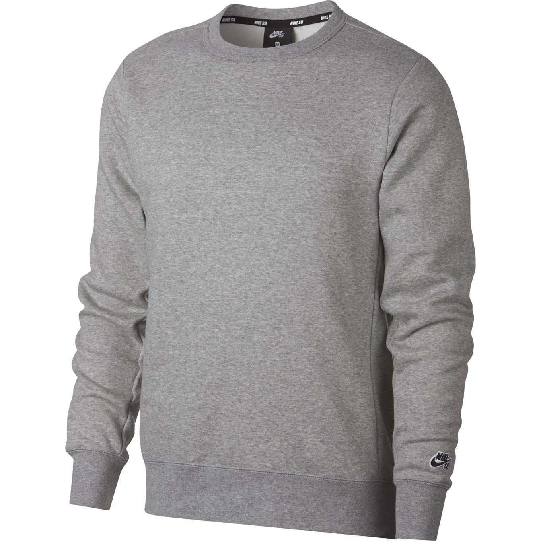 Nike SB Icon Crew Fleece Essential Dk Grey HeatherBlack