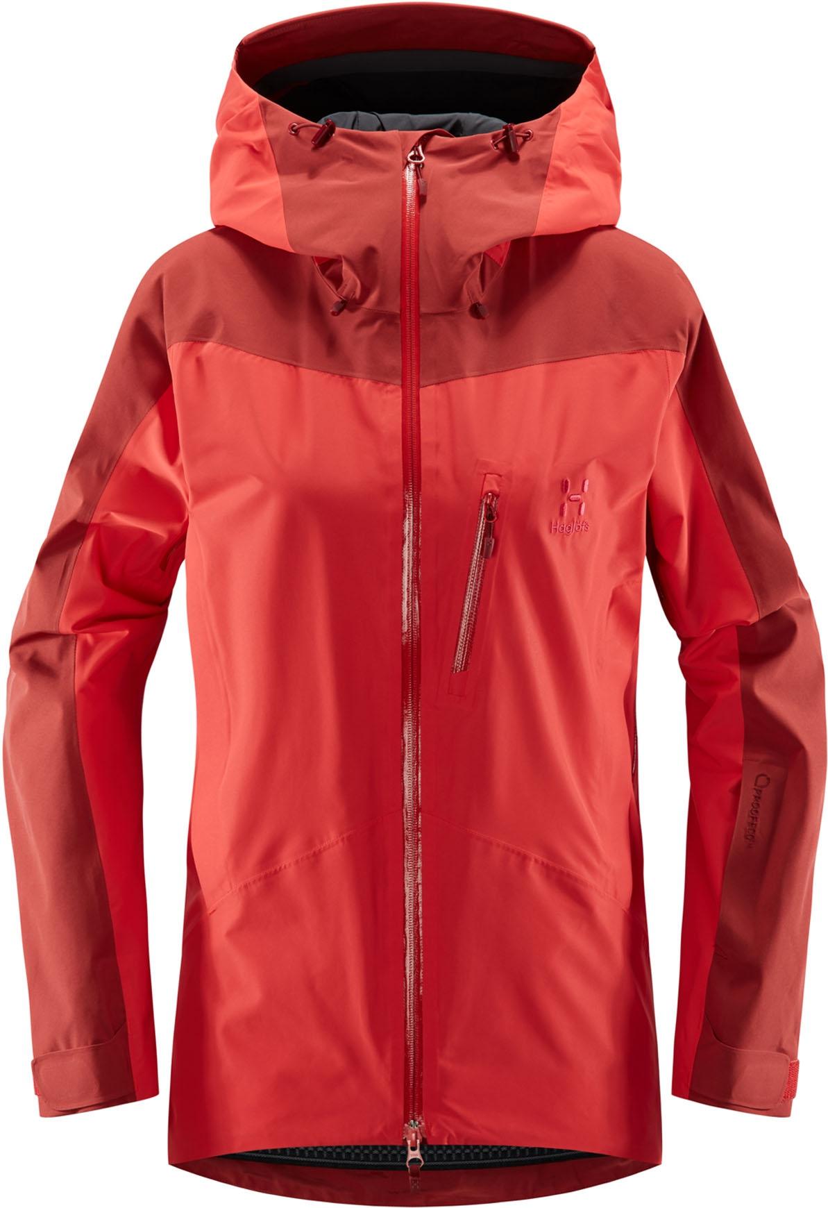 Niva Jacket Women Hibiscus RedBrick Red