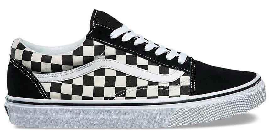 chaussure vans old school damier