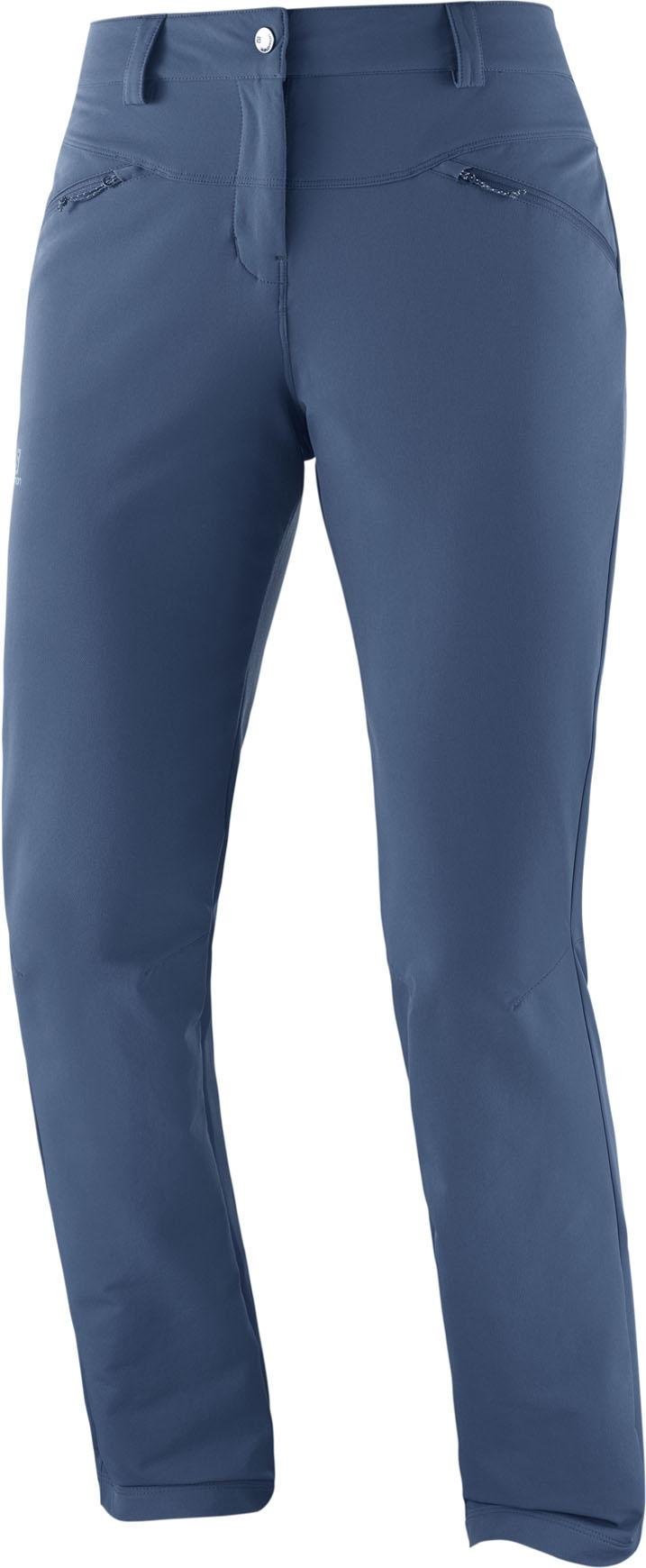 Trekking Trousers Size 38 Womens Wayfarer As Straight Trousers Regular Blue Salomon