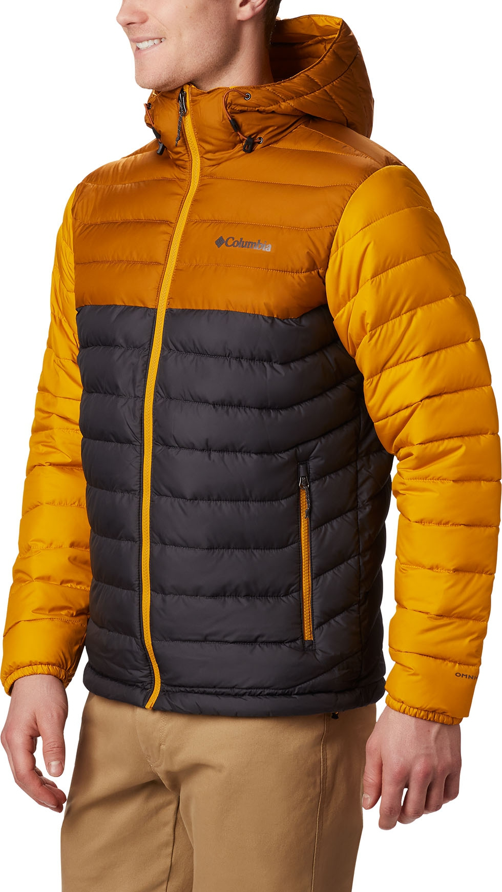 Powder Lite Hooded Jacket SharkBurnished Amber