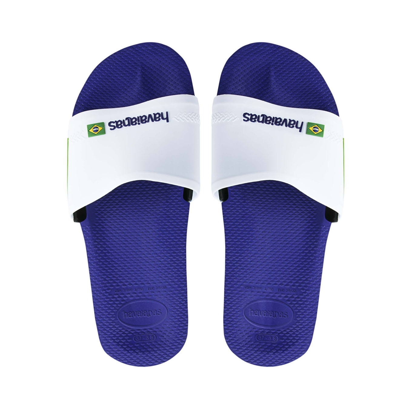 08bb4b93177 Slide Brasil Marine Blue White Havaianas   Tongs   Snowleader