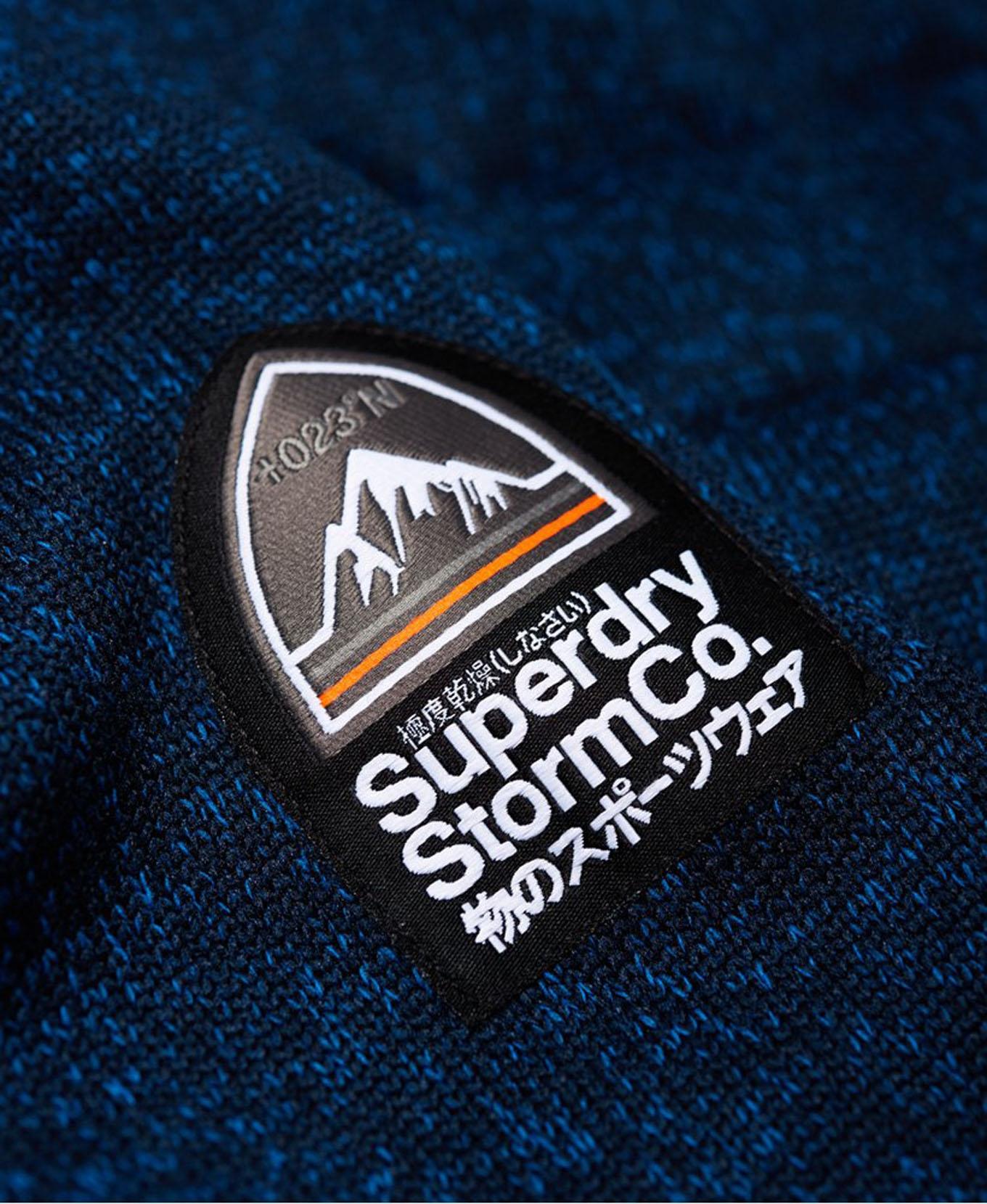 Storm Quilted Ziphood M Indigo Navy Marl Superdry : Sweats