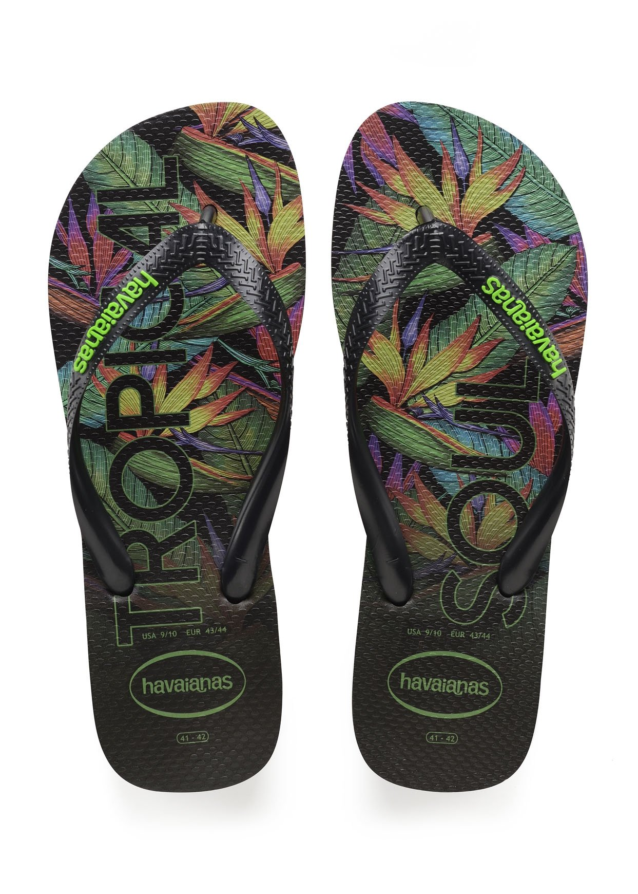 86c014b4d00 Top Tropical Black Black Havaianas   Tongs   Snowleader