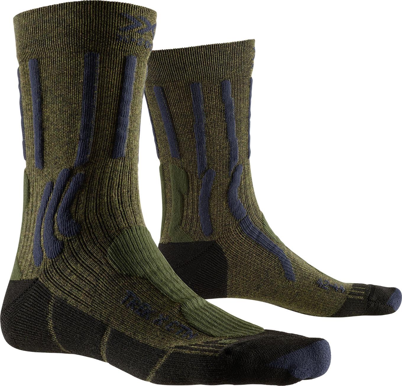 X-SOCKS Chaussettes de randonn/ée Respirantes effecteurs de Compression-Femme-Noir//Gris//Turquoise-Taille