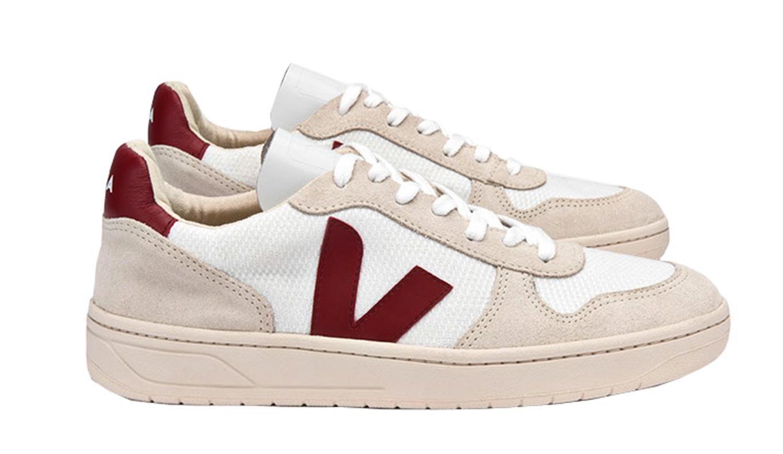 buscar el más nuevo buscar el más nuevo descuento especial de V10 B-Mesh White Natural Marsala Veja : Zapatillas/sneakers ...