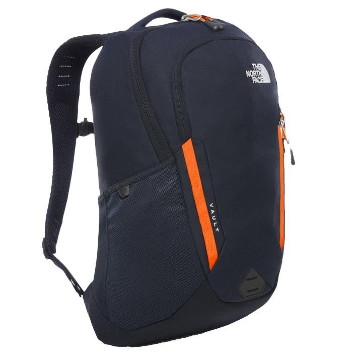 Urban Navy Persian Orange The North Face Vault Rucksack Hiking Backpack