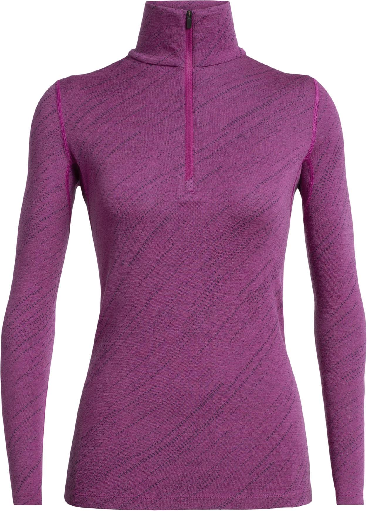 Snow Storm Thermo Unterw/äsche Women Icebreaker 250 Vertex Longsleeve Half Zip Shirt