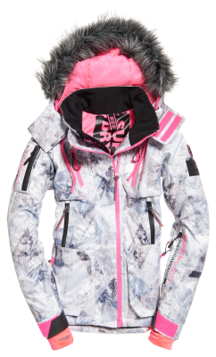 c9b24b55de Superdry Ultimate Snow Action Jacket W Frosted Geo Mountain   Ski jackets    Snowleader