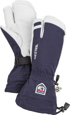 Army Leather Heli Ski 3 finger Navy