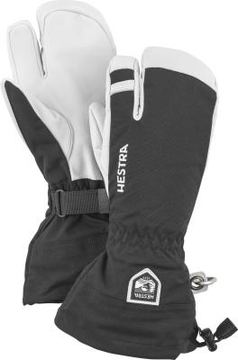 Army Leather Heli Ski 3 Finger Noir
