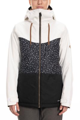 Wms Athena Insulated Jacket Black Angular Colorblock