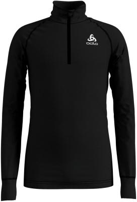 T Shirt ML Warm 1/2 Zip Black
