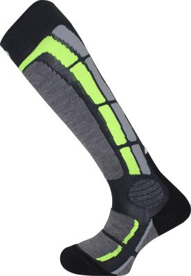 Back Side Socks Gris Vert