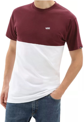 MN Colorblock Tee Port Royale/White