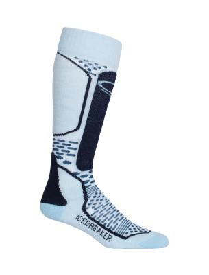 2e4fc27b75 Icebreaker Wmns Ski+ Light OTC Ice Blue/Largo/Admiral : Ski socks ...