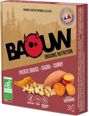 Etui 3 barres bio 25g Baouw Patate douce-Cajou-Curry
