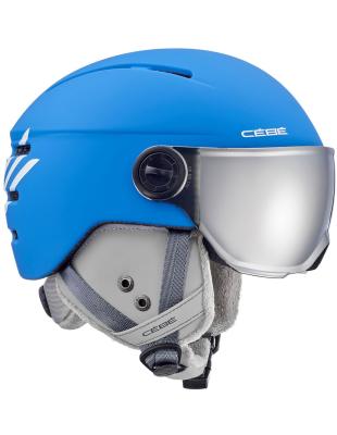 Fireball Junior Matt Blue White Cébé   Casques junior   Snowleader 35a55c7e2941