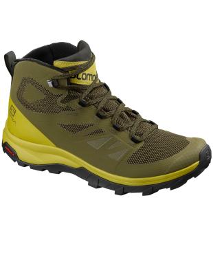 fb133cbeb78cd Salomon Outline Mid GTX Burnt Oliv Citron   Men s Walking Boots ...
