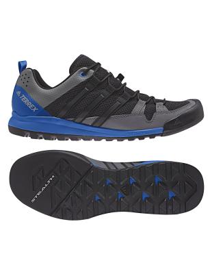 bae4d5f7f8116 adidas terrex Terrex Solo Core Black Blue Beauty   Men s Walking Boots    Snowleader