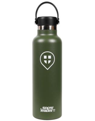21 Oz Hydroflask x Snowleader Olive